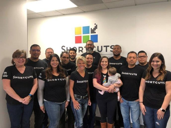 The Shortcuts team in Huntington Beach, California.  -