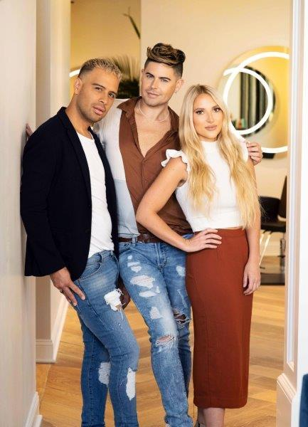 Ramiro Corrales, Cameron Kepford and Taylor Miller, owners of Haus of Heir in Davenport, Iowa.  -