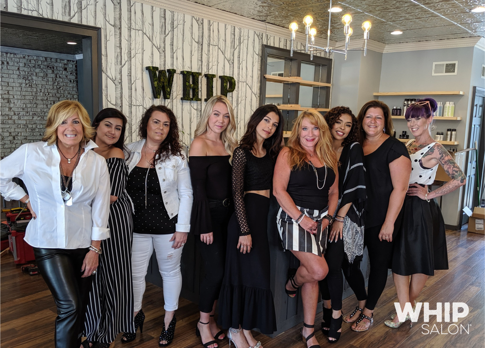 <p>The Whip Salon team at the Newtown, Connecticut, location.&nbsp;</p>