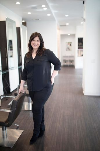 Kati Whitledge, owner of Be Inspired Salon in Madison, Wisconsin. 