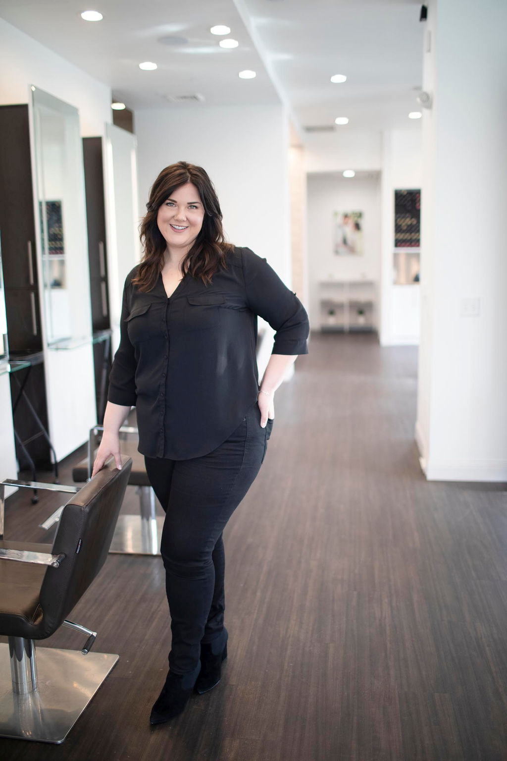 Kati Whitledge, owner of Be Inspired Salon in Madison, Wisconsin.  -