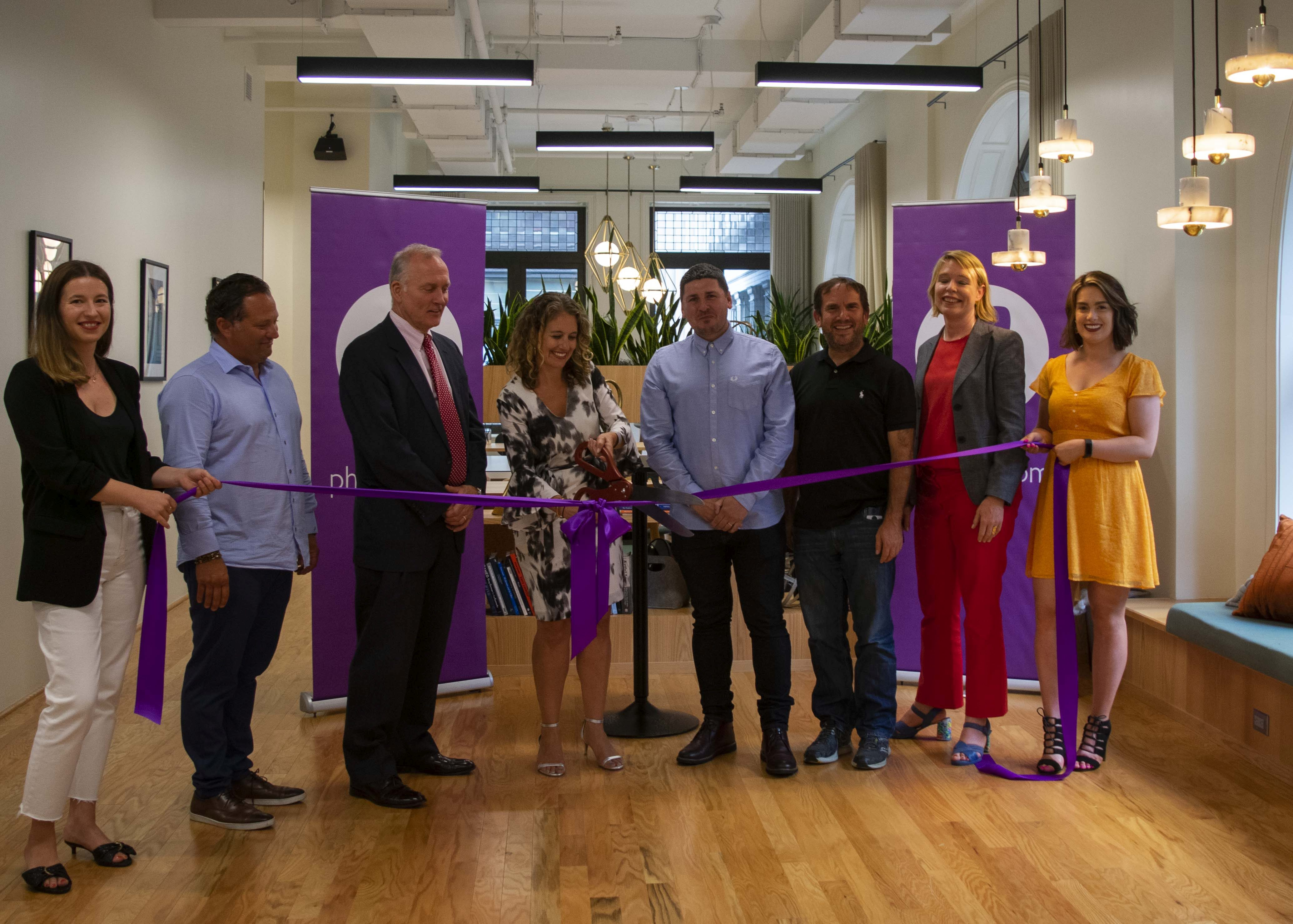 Premium salon owners and government leaders from the city of Philadelphia join the Phorest team as they open their US office.  -