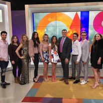 The Twiggs team and their models appear on a popular local morning program.
