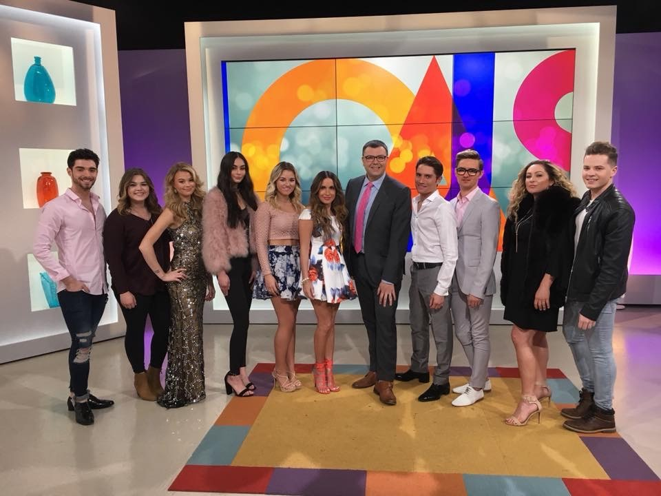 <p>The Twiggs team and their models appear on a popular local morning program.&nbsp;</p>