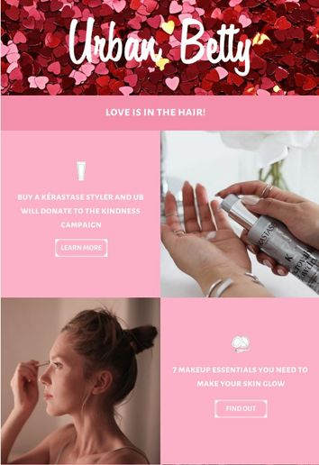 Using the graphic design app Canva, Urban Betty revamped its email newsletter and doubled its click rate. 