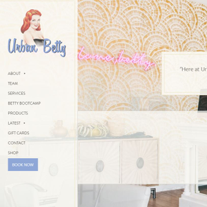 The best way to experience Urban Betty's website is visit it yourself. Go to urbanbetty.com.