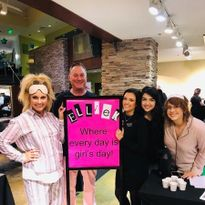 Welcoming clients to Ellie K Salon in Frisco, TX.