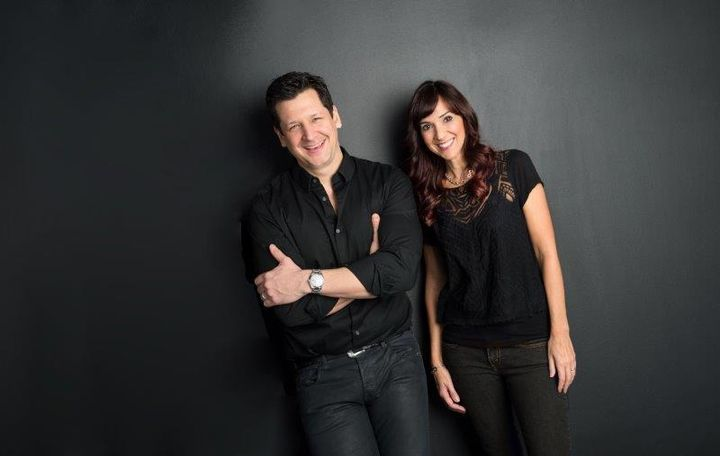Andreas Hogue and Design Team Member Carla Makowski from the Andreas Hogue Salon in Northbrook, IL. 