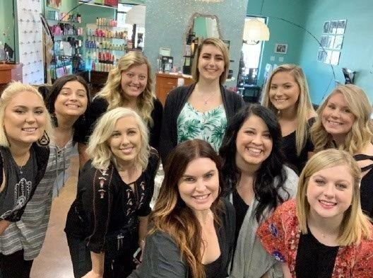 A selfie pic of the team from Deja Vous Hair Care in Kannapolis, NC. 