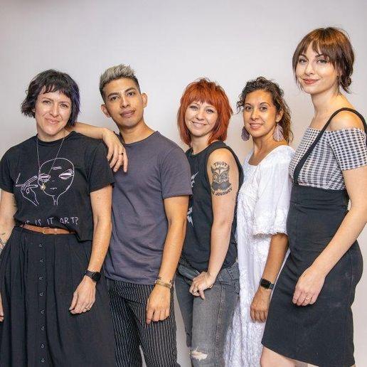 The team from Let 'Em Have It Salon in Denver, CO.   -