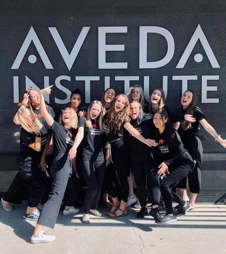 The team from Aveda Institute Provo, in Provo, UT.