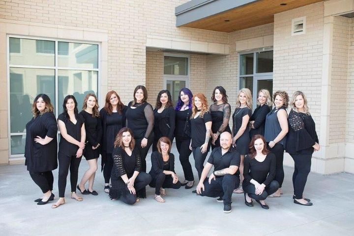 The team from Be Inspired Salon Inc., in Madison, WI.