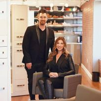 Jason and Rachel Gribbin, owners of Define Hair in Ellicott City, MD.