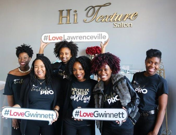 The team from Hi Texture Hair Salon LLC in Lawrenceville, GA. 