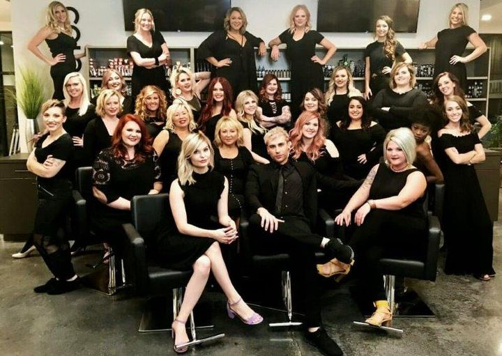 The team from Hollywood Hair in Centrailia, IL. 
