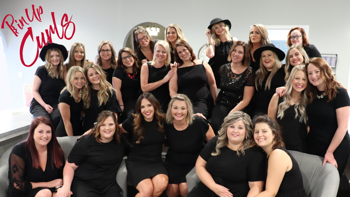 The team from Pin-Up Curls in Fort Wayne, IN. 