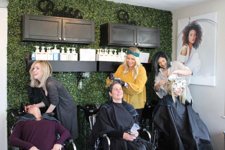 The team at Prism Wellness Salon hard at work in St. James, NY.