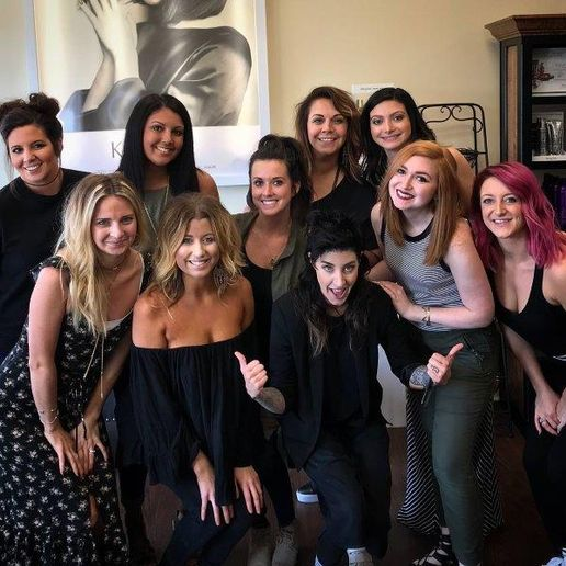 The team fronm SF Salon in Fairlawn, OH. 