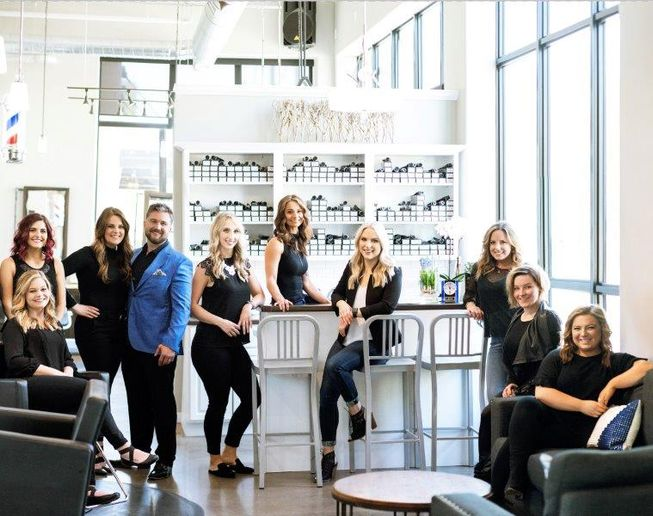 The team from Thompson & Company Salon Parlor in Iowa City, IA. 