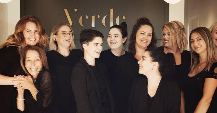 The team from Verde Salon in Winnipeg, Manitoba. 