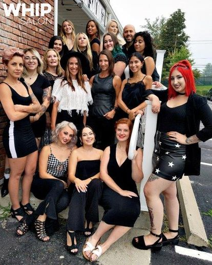 The team from Whip Salon in Ridgefield, CT. 