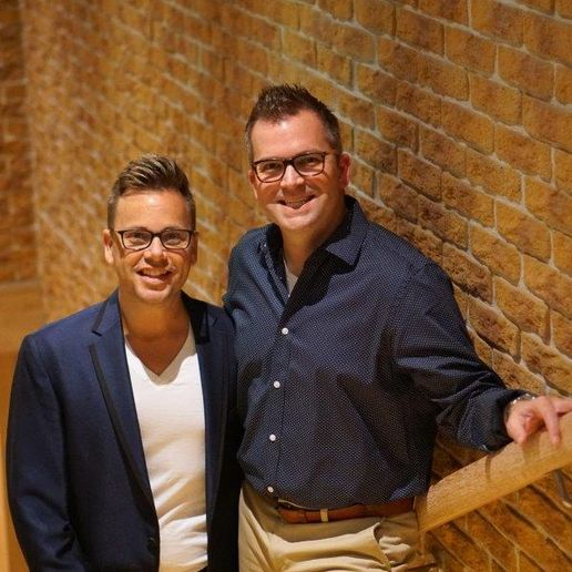 Beau Barbee and Drew Anderssen, owners of Z Studio...The Art of Hair in Tulsa, OK. 