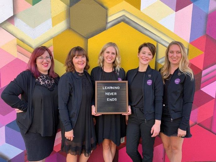 The team from Zinke Hair Studio in Boulder, CO. 