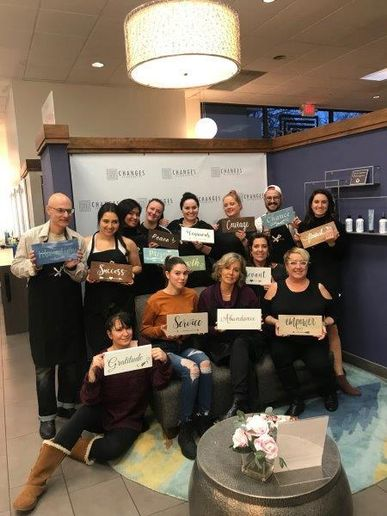 The team from Changes Salon and Day Spa in Walnut Creek, CA.