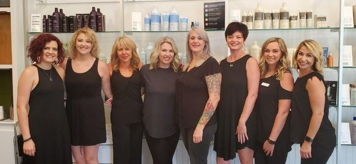 The team from Aabani Salon in Weaverville, NC. 