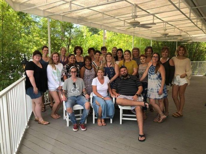 The team from Cutting Loose Salon in University Park, FL.  -