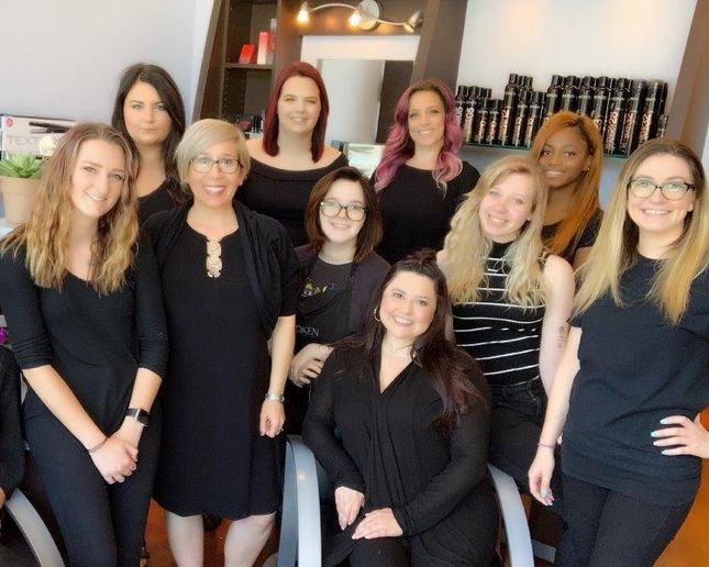 The team from Lavish Color Salon in Cleveland, OH.   -