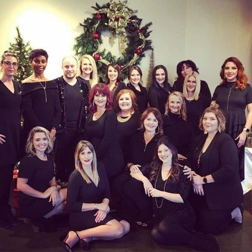 The team from The Studio Aveda Salon in Hattiesburg, MS. 
