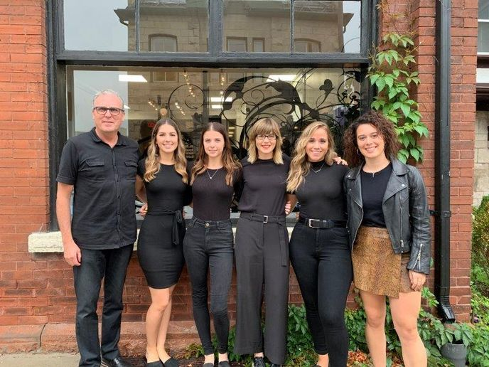 The team from La Luma Salon and Academy in Guelph, Ontario.