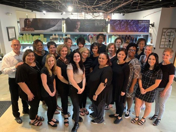 The team from Jonathan Kane Salon and Spa in Homewood, IL. 