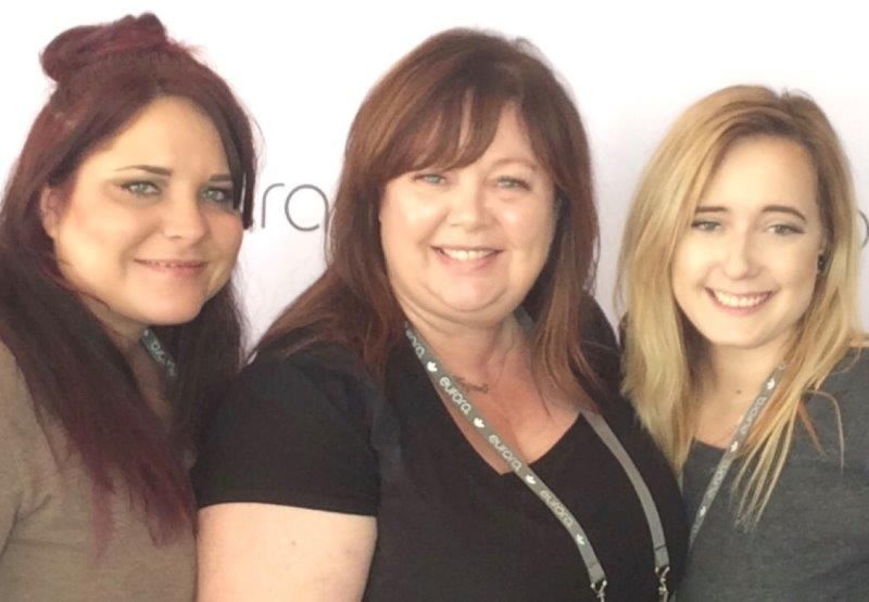 <p>Maz Sedaq (center), owner of Willo in Roseville, CA, with team members Abby and Jennifer.</p>