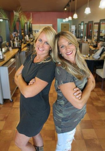 Jennifer Tryon and Sheila Barco of Salon Rootz, Inc., in Medina, OH.