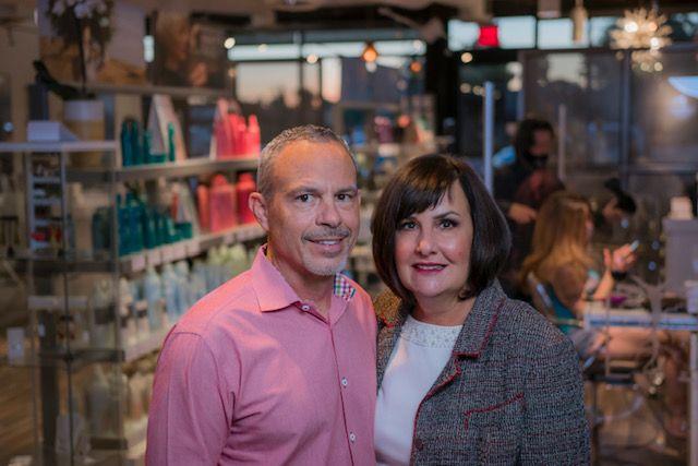 Samuel Sciotto and Lauren Hart, owners of The Root Salon in Phoenix, AZ.   -