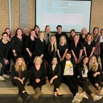 The team from Graeber & Company in Boise, ID, take a class with Keri Davis-Duffy of Beauty...