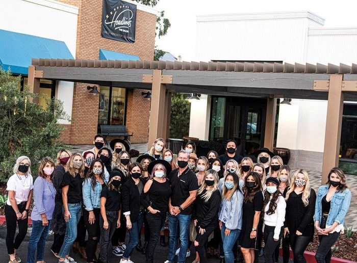 The team from Headlines The Salon in Encinitas, CA.  -