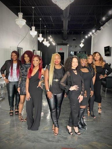 The glamourous team from Hi Texture Hair Salon, LLC., in Lawrenceville, GA.  -