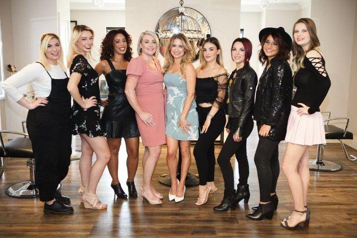 The team from Lola Hair Studio in Cambridge, MA.  -