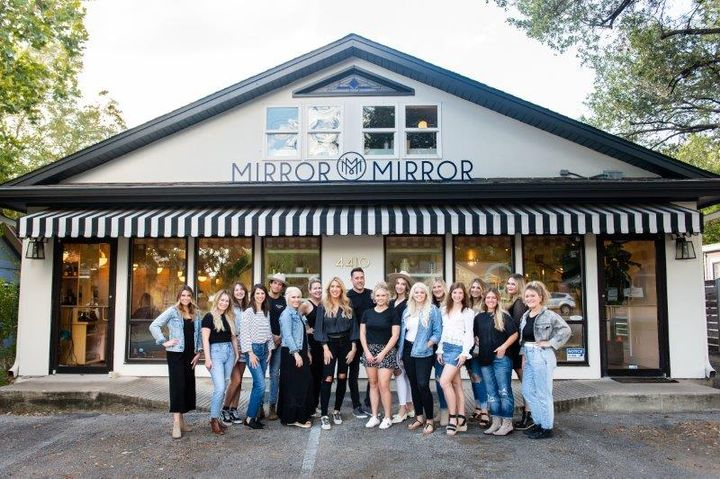 The team from Mirror Mirror outside the salon in Austin, TX.  -