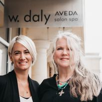 Amanda Hair, founder of So Chic Salon Brands, Inc., and Wendy Daly, transitioning owner of W....