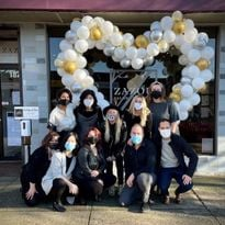 The team from Zazou Salon in North Vancouver.