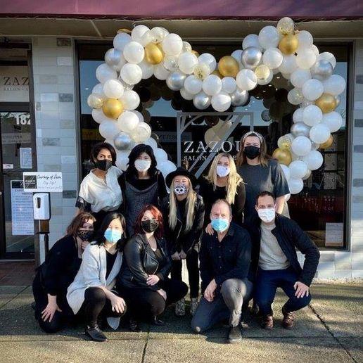 The team from Zazou Salon in North Vancouver.   -