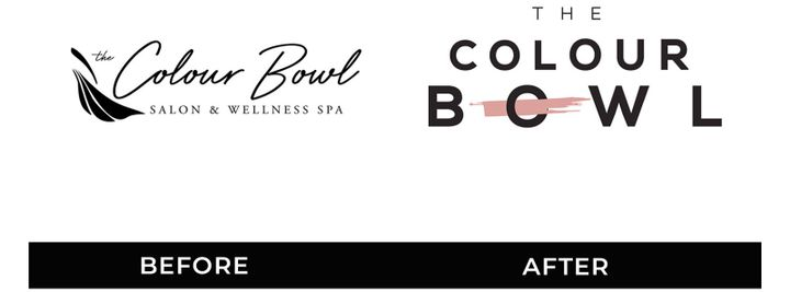 Here is the rebranding for The Colour Bowl Salon & Wellness Spa in Mequon, WI. The owner wanted a new, contemporary logo with the theme of color an impactful element, as hair color is their speciality. 
