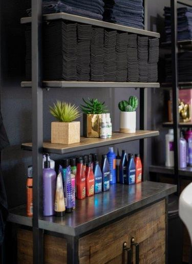 When folded, the towels are compact, allowing salons like Honey Hair Lab in West Hollywood to store them in small spaces. 