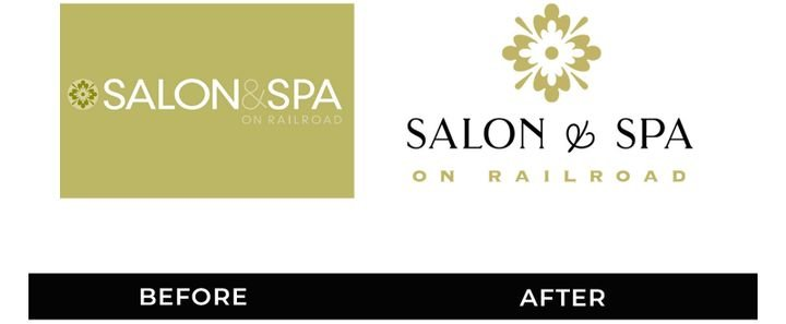 The logo for Salon & Spa on Railroad in Eagle River, WI, is an example of a successful Logo Refresh. 
