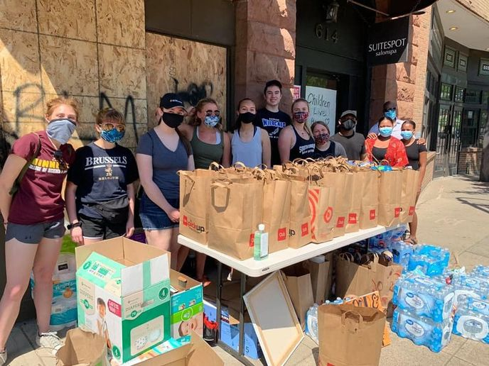 Ampey organized a drive to gather and deliver 500 bags of food and basic essentials to residents in need in her neighborhood.   -