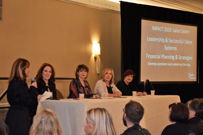 <p>In a panel led by Mary Wilson, salon owners Bonnie Conte, Rowena Yeager, Gayle Fulbright and Maggie DiFalco ( a.k.a. The Salon Sisters) shared what they have learned about business through years of mutual friendship and support.</p>